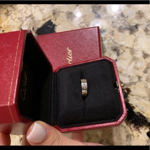 Cartier love ring 18K white gold size 47 (4.5 US)